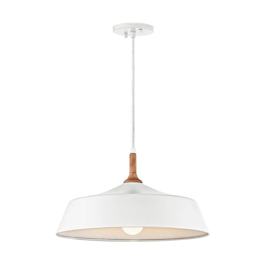 Kichler Lighting Danika 16.25-in White Industrial Hardwired Mini Warehouse Pendant