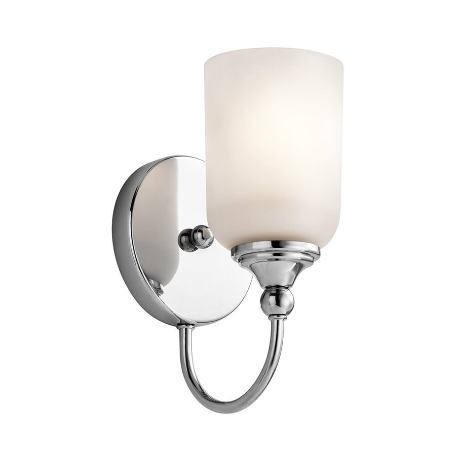 Kichler Lighting Lilah 1-Light 10-in Chrome Cylinder Vanity Light