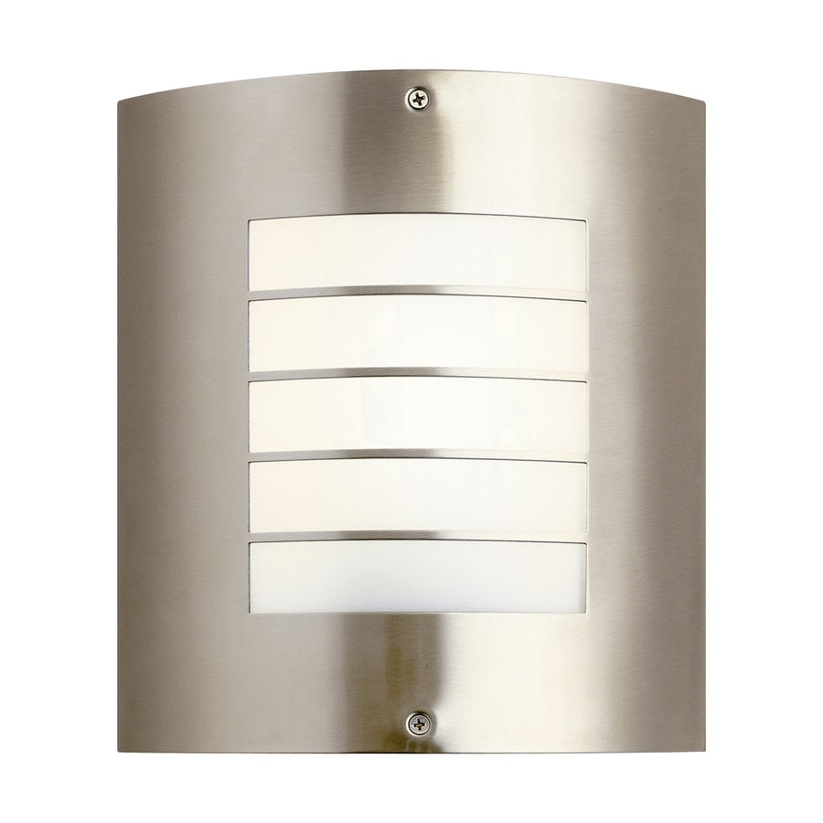 Kichler Lighting Newport 10.25-in H Brushed Nickel Outdoor Wall Light