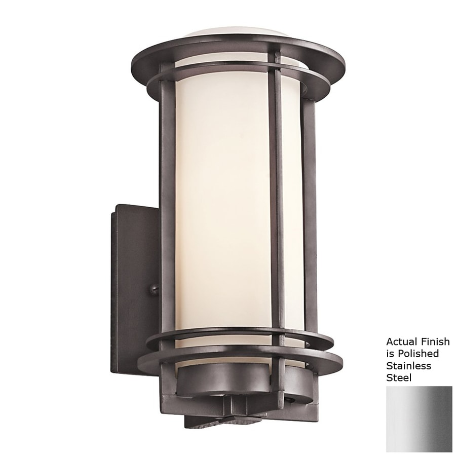 Kichler Pacific Edge 10.75-in H Polished Stainless Steel Outdoor Wall Light