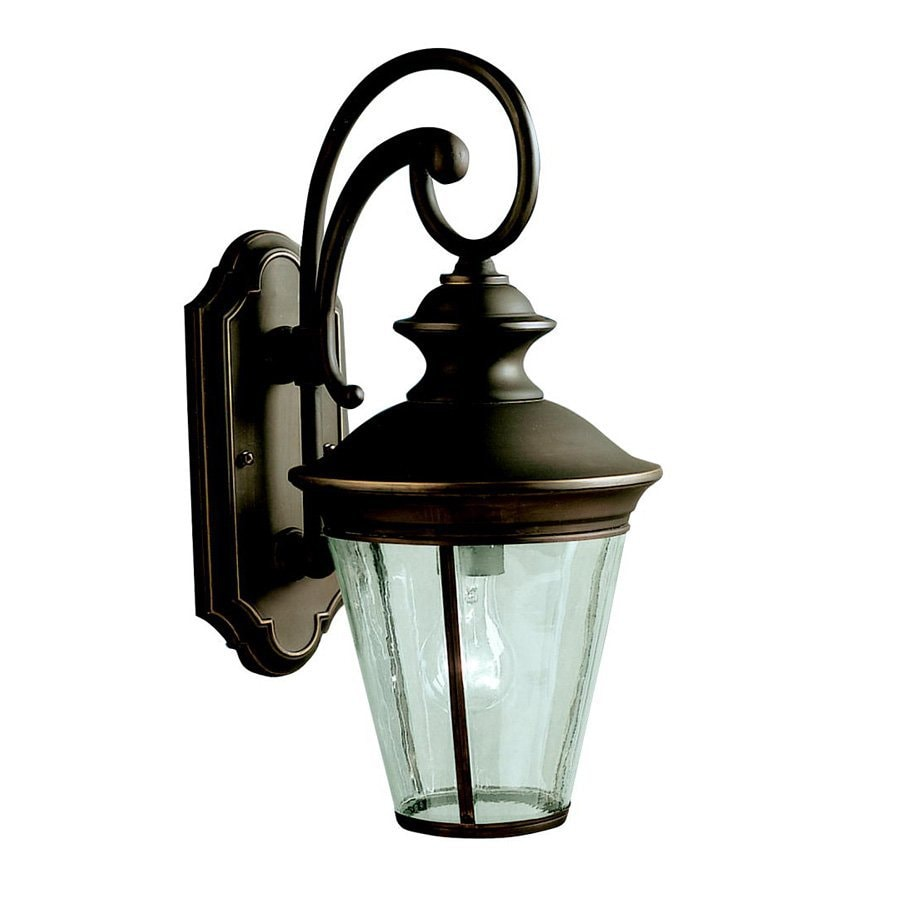 Kichler Eau Claire 18.25-in H Olde Bronze Outdoor Wall Light