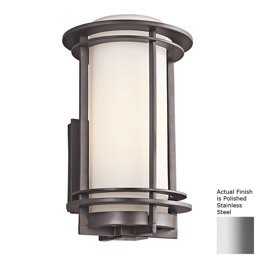 Kichler Lighting Pacific Edge 13.25-in H Polished Stainless Steel Outdoor Wall Light