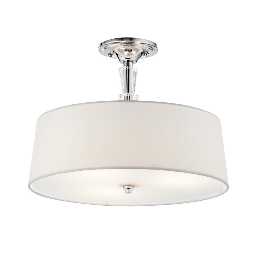 Kichler Crystal Persuasion 15-in W Chrome Etched Glass Crystal Accent Semi-Flush Mount Light