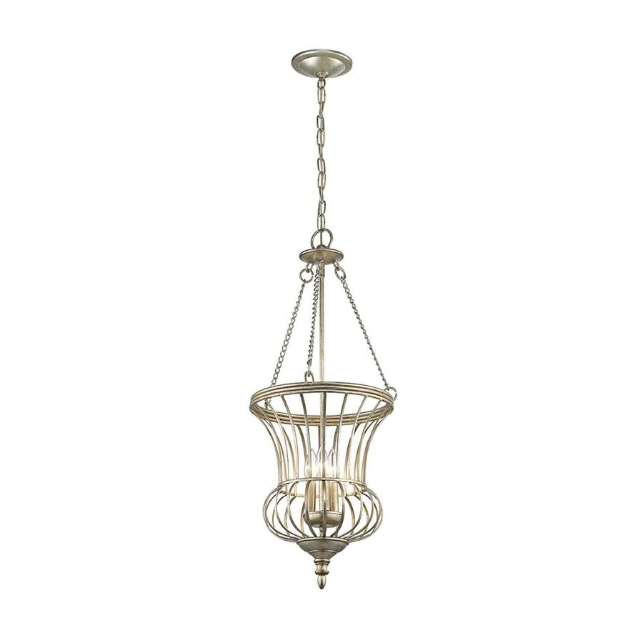 Kichler Calla 14-in Sterling Gold Country Cottage Hardwired Single Urn Pendant