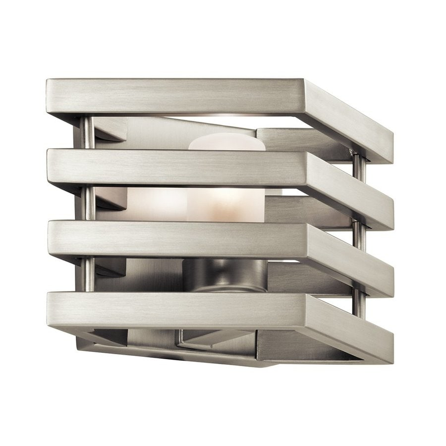 Kichler Realta 10-in W 1-Light Brushed Nickel Pocket Wall Sconce
