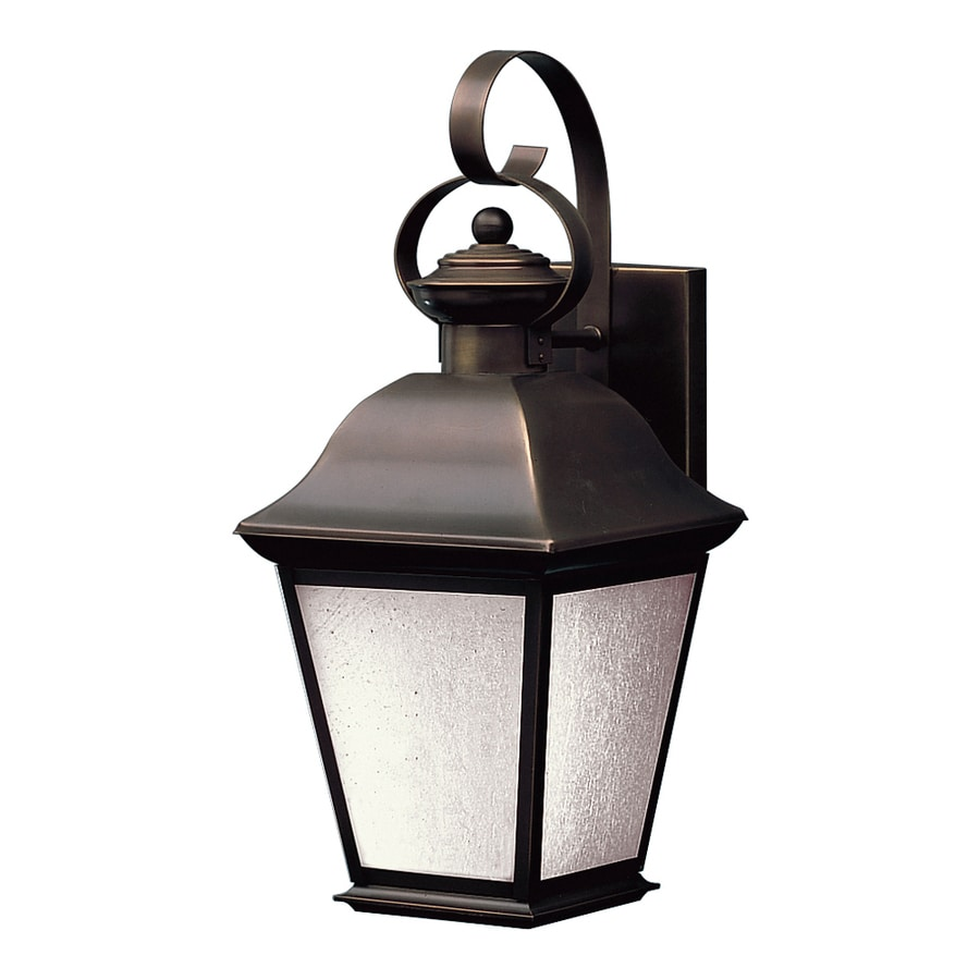 Shop Kichler Mount Vernon H Olde Bronze Outdoor Wall Light At