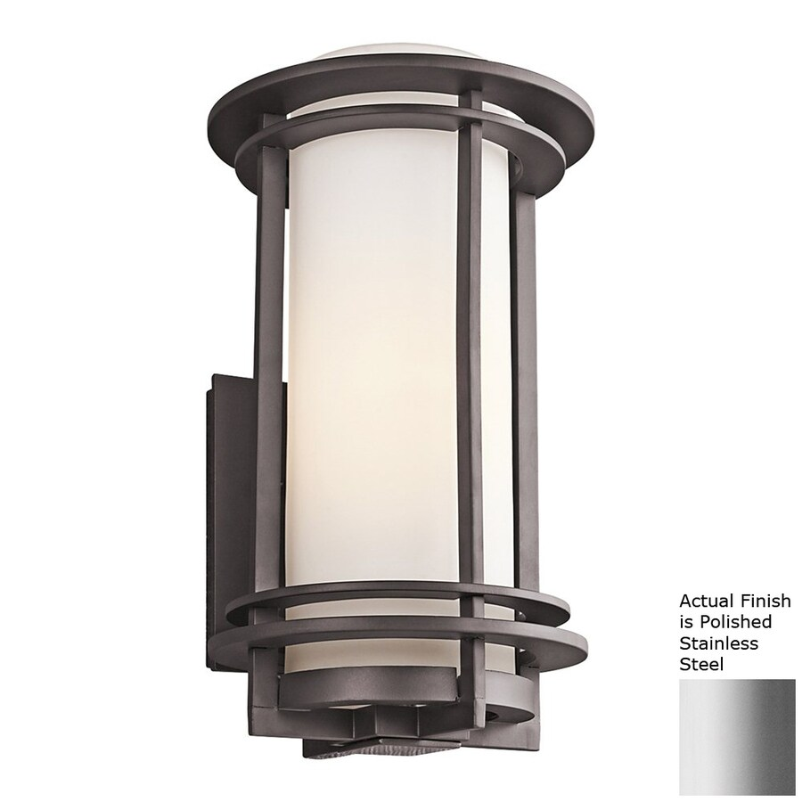Kichler Lighting Pacific Edge 16-in H Polished Stainless Steel Outdoor Wall Light