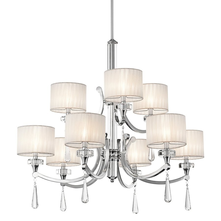 Kichler Parker Point 36-in 9-Light Chrome Crystal Tiered Chandelier