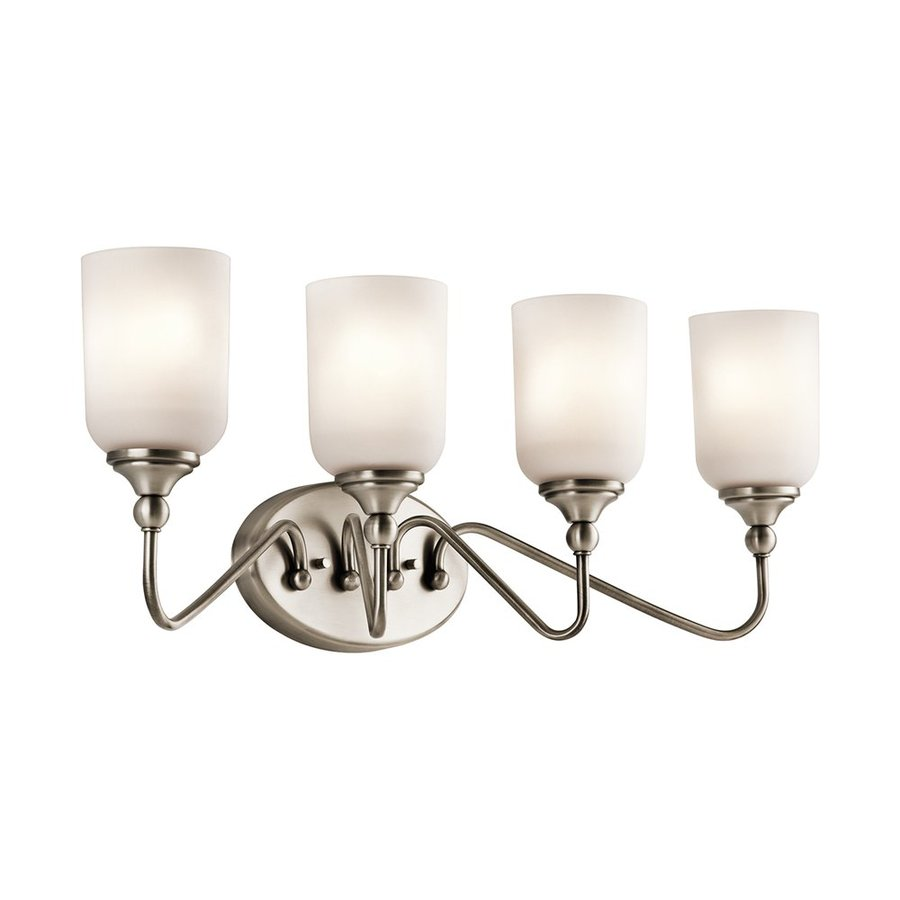 Kichler Lilah 4-Light 10-in Antique Pewter Cylinder Vanity Light