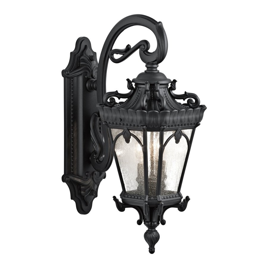 Kichler Tournai 24-in H Textured Black Outdoor Wall Light