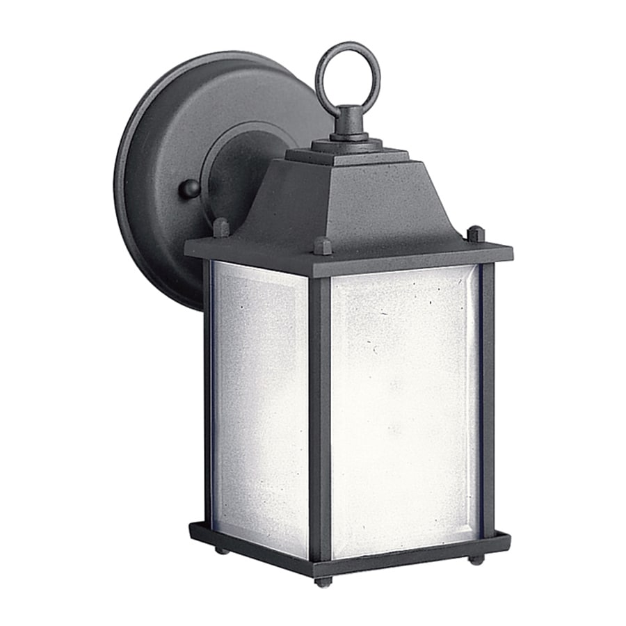 Kichler New Street 9.5-in H Black Outdoor Wall Light