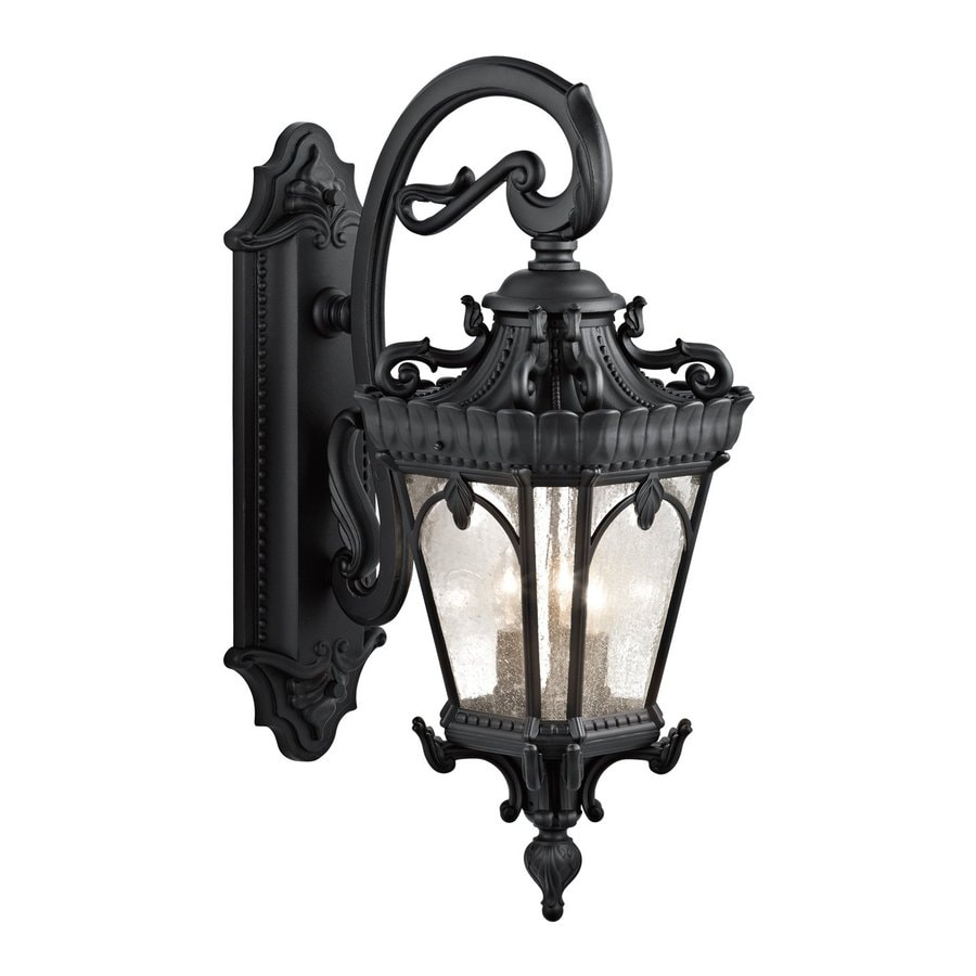 Kichler Tournai 29-in H Textured Black Outdoor Wall Light