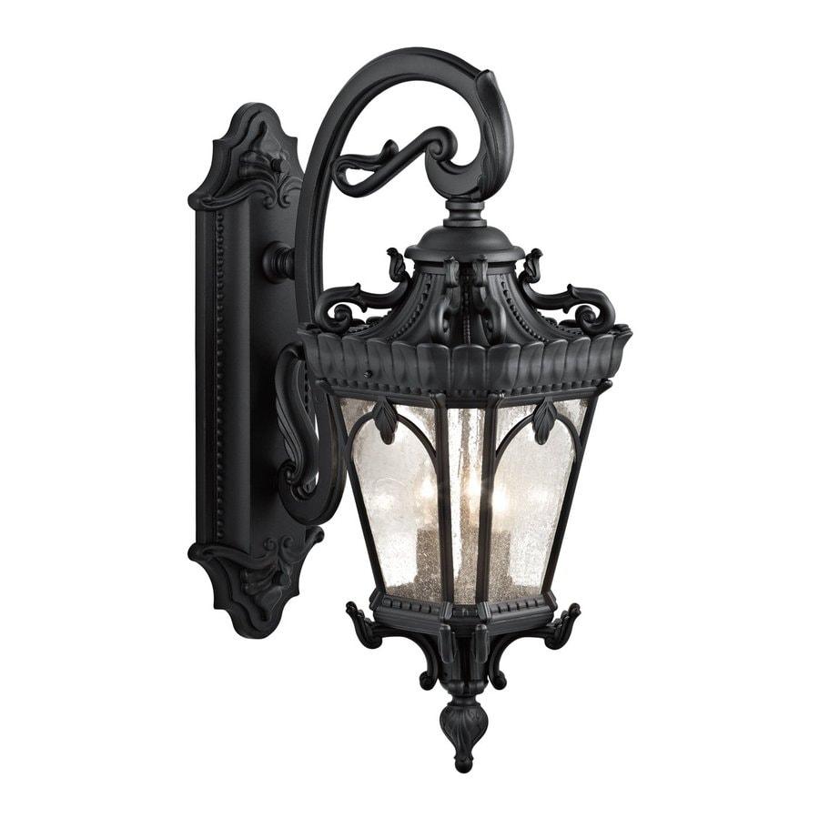 Kichler Lighting Tournai 29-in H Textured Black Outdoor Wall Light