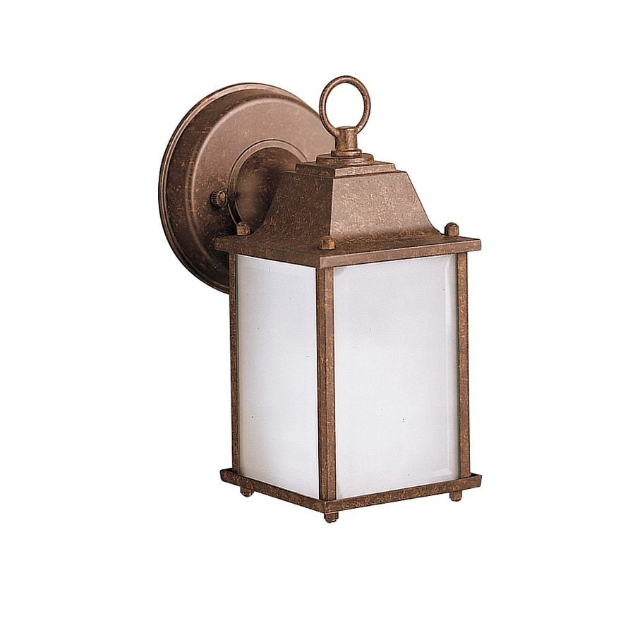 Kichler New Street 9-in H Tannery Bronze Outdoor Wall Light