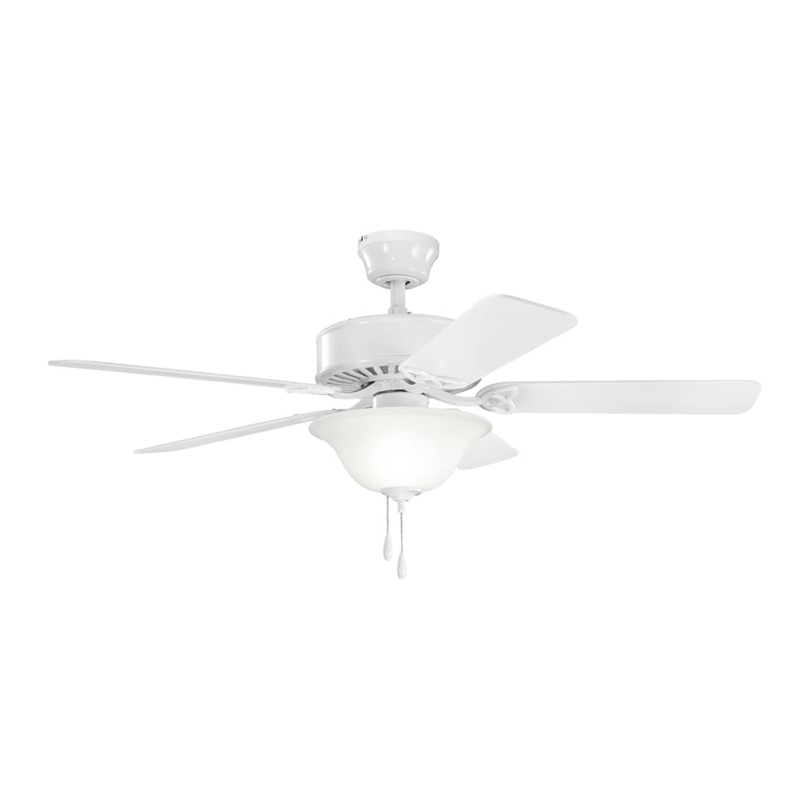 Kichler Renew Select 50-in White Indoor Downrod Or Close Mount Ceiling Fan with Light Kit