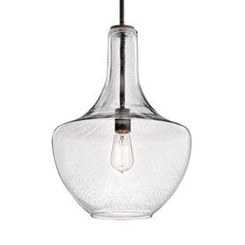 Shop pendant lighting at lowes kichler everly 1375 in olde bronze industrial hardwired single seeded glass teardrop pendant aloadofball Gallery
