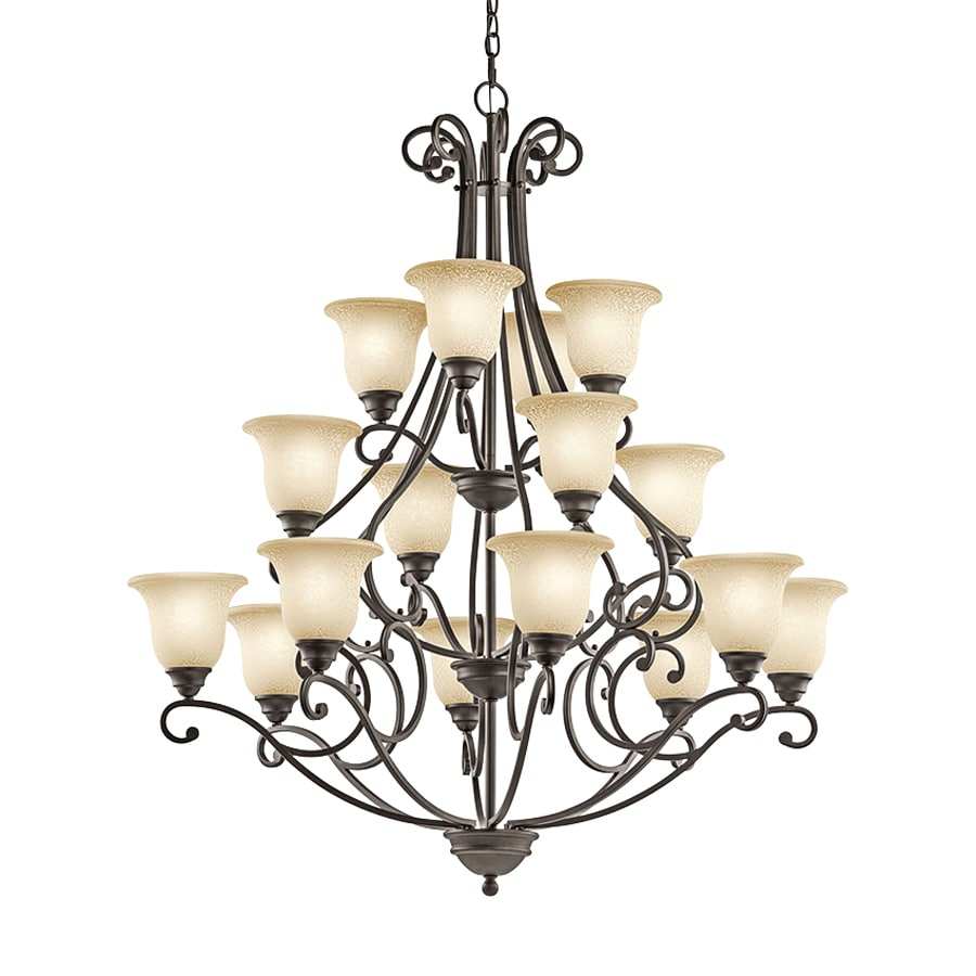 Kichler Lighting Camerena 45-in 16-Light Olde Bronze Mediterranean Tiered Chandelier