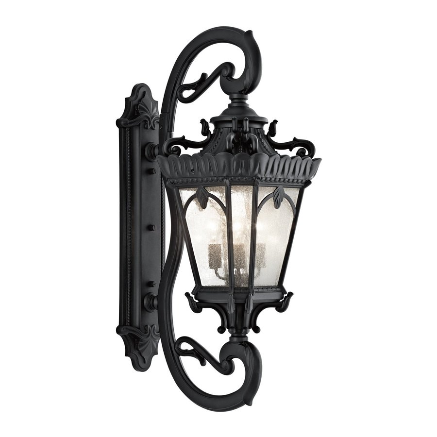 Kichler Tournai 46-in H Textured Black Outdoor Wall Light