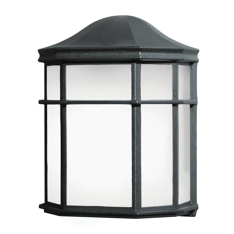 Kichler 9.75-in H Black Outdoor Wall Light