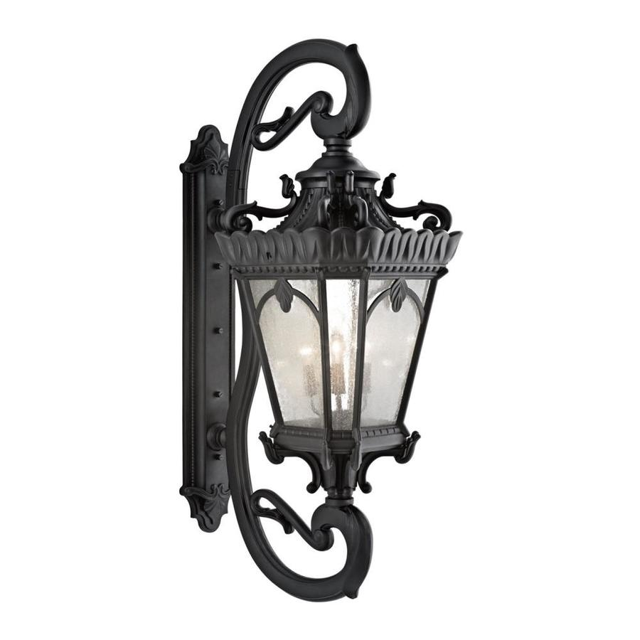 Kichler Tournai 69.5-in H Textured Black Outdoor Wall Light