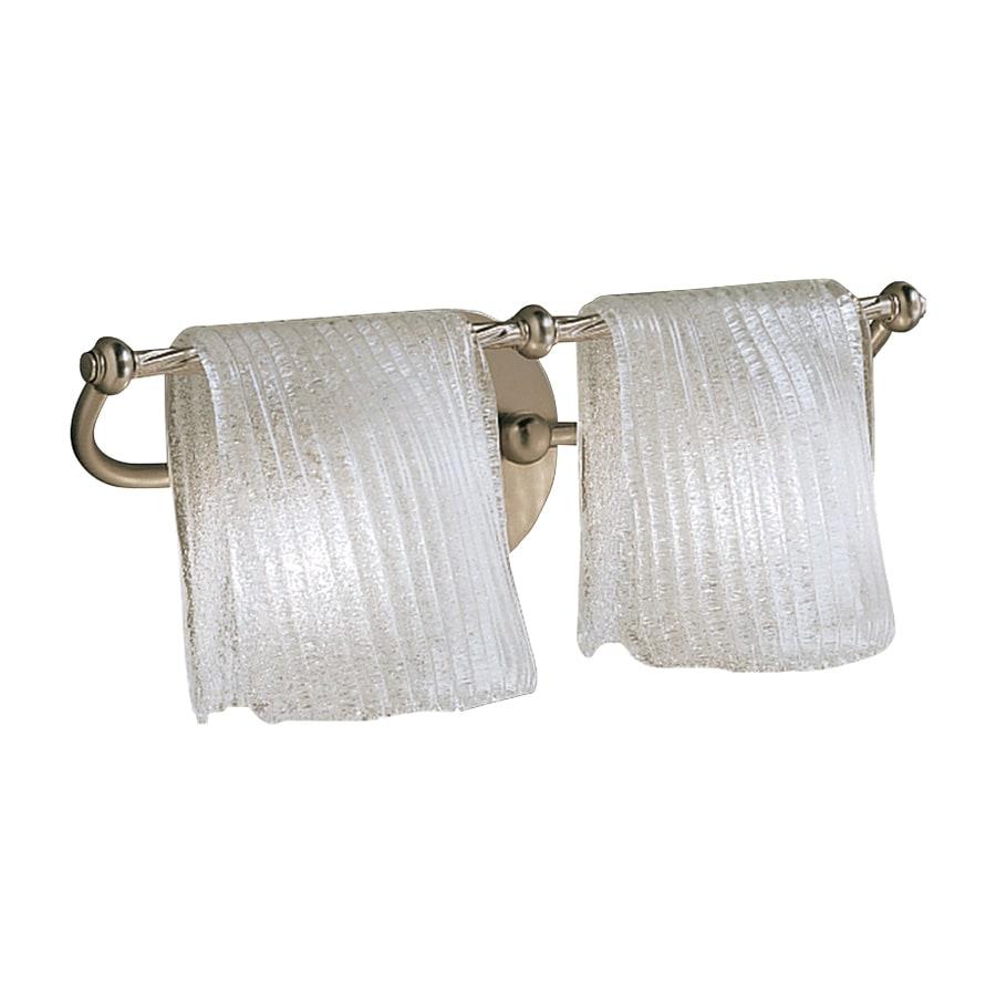Kichler Drapes 2-Light 6.5-in Brushed nickel Rectangle Vanity Light