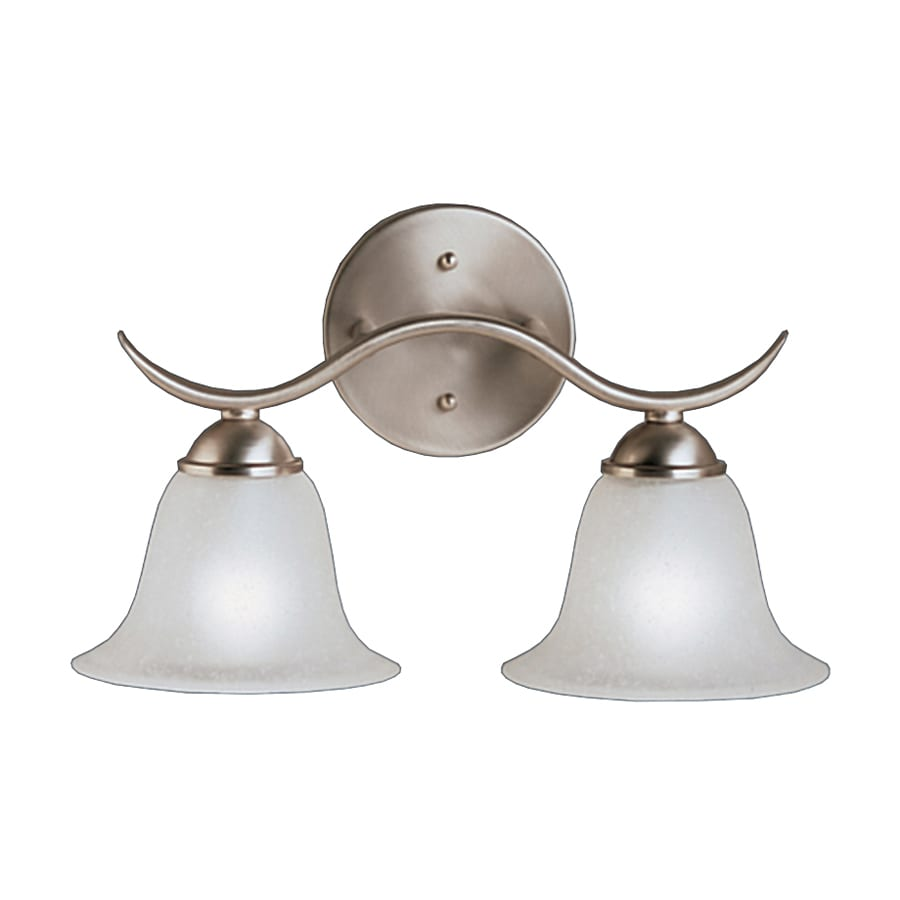 Shop Kichler Dover 2-Light 9-in Brushed nickel Bell Vanity Light at Lowes.com