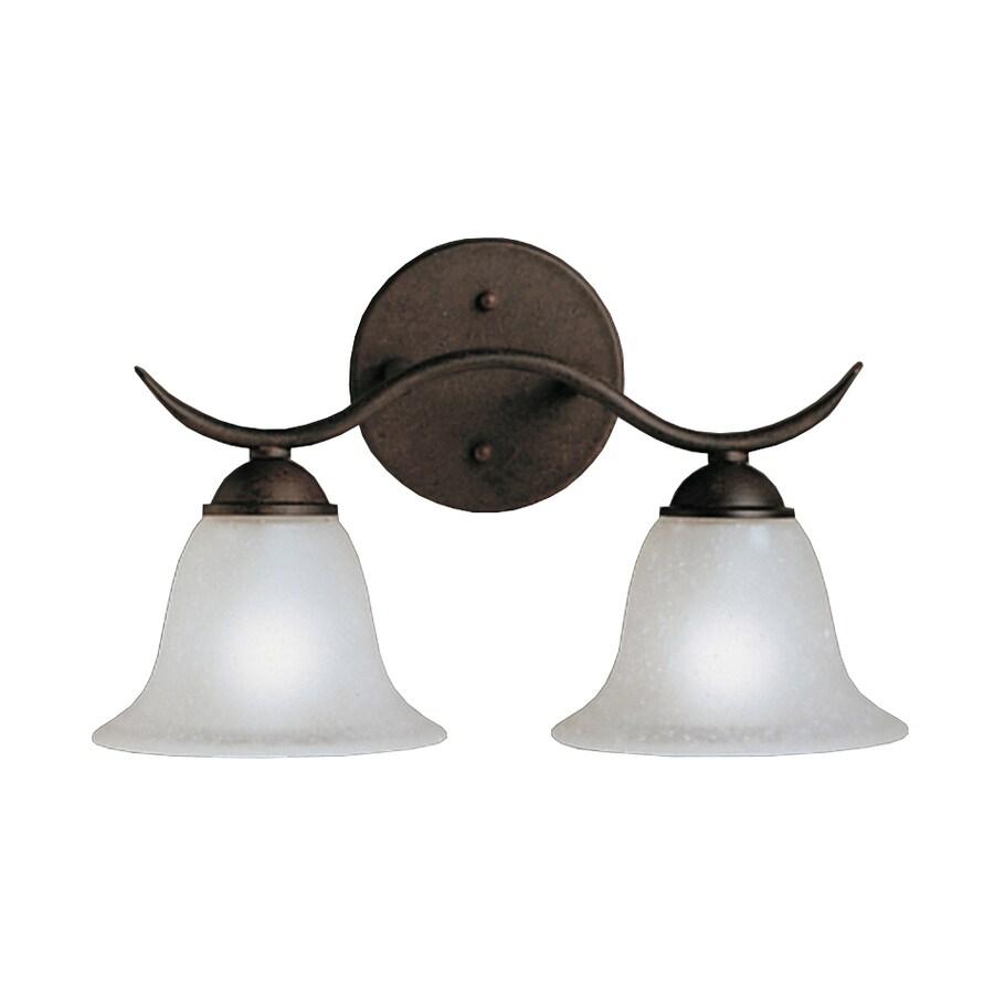 Kichler Lighting Dover 2-Light 9-in Tannery Bronze Bell Vanity Light