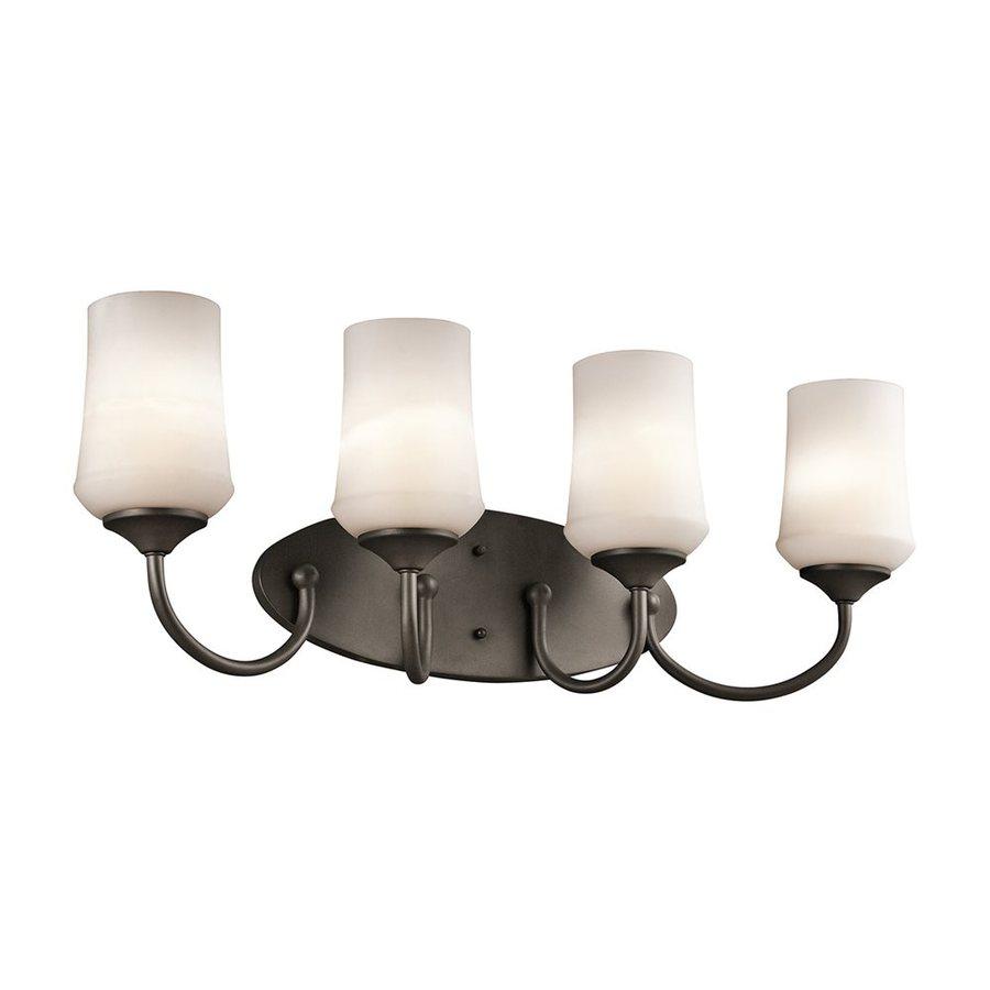 Kichler Lighting Aubrey 4-Light 10.75-in Olde Bronze Cylinder Vanity Light