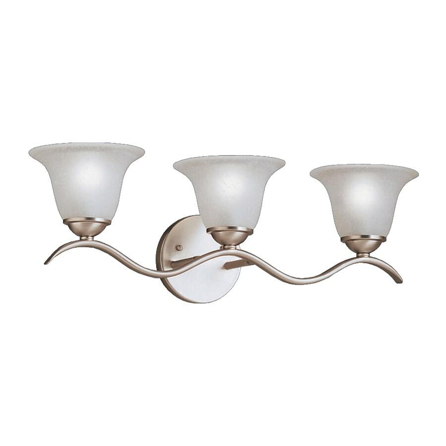Kichler Dover 3-Light 8-in Brushed Nickel Bell Vanity Light