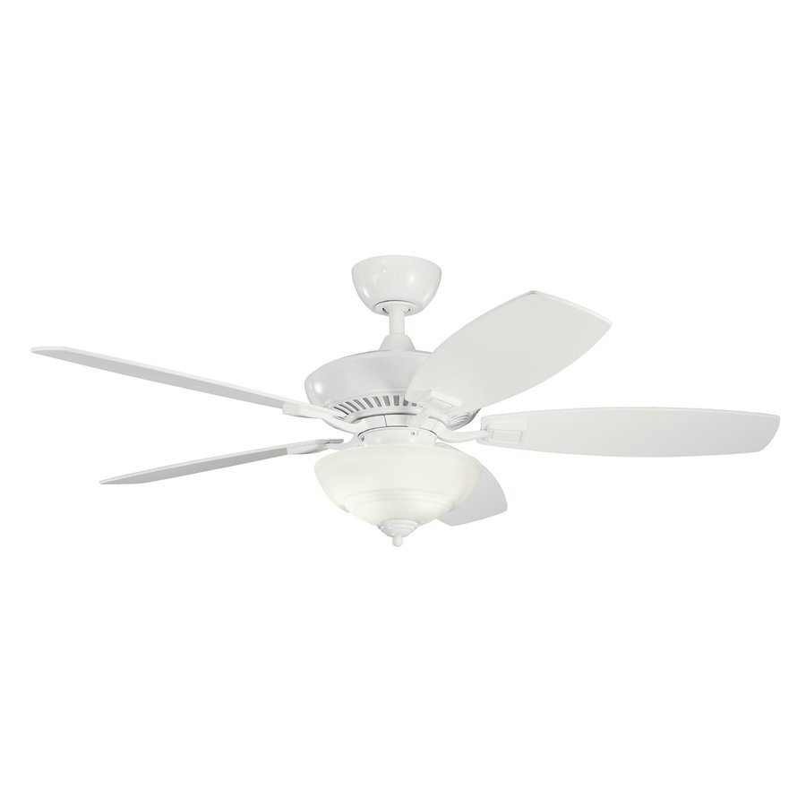 Kichler Lighting Canfield Pro 52-in White Downrod Mount Indoor Ceiling Fan with Light Kit and Remote (5-Blade)