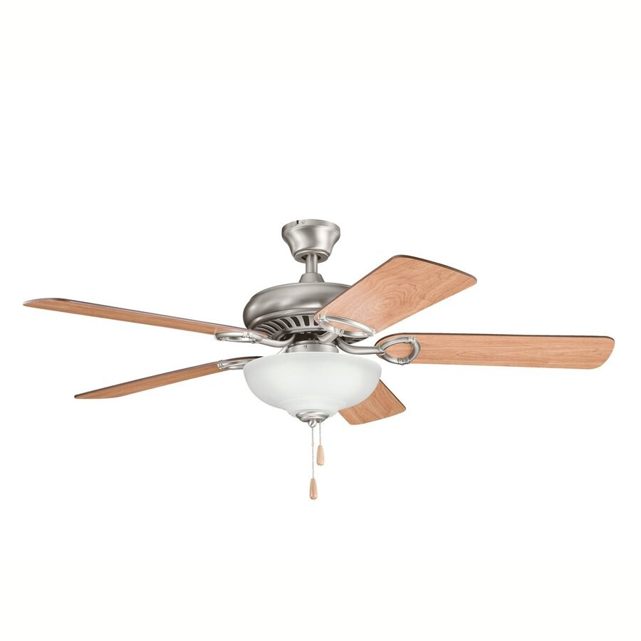 Kichler Lighting Sutter Place Select 52-in Antique Pewter Downrod or Close Mount Indoor Ceiling Fan with Light Kit (5-Blade)
