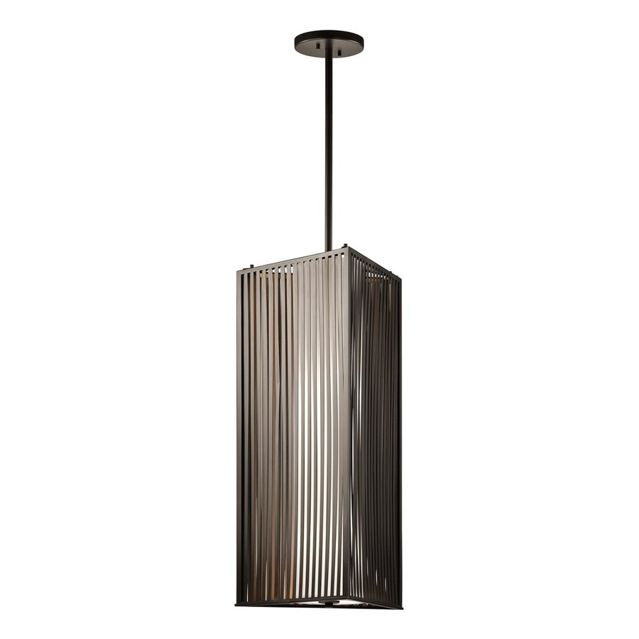 Kichler Lighting 15-in Olde Bronze Industrial Hardwired Single Geometric Pendant
