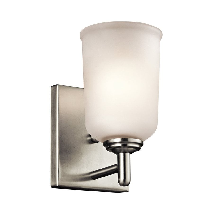 Kichler Lighting Shailene 1-Light 8.25-in Brushed Nickel Cylinder Vanity Light