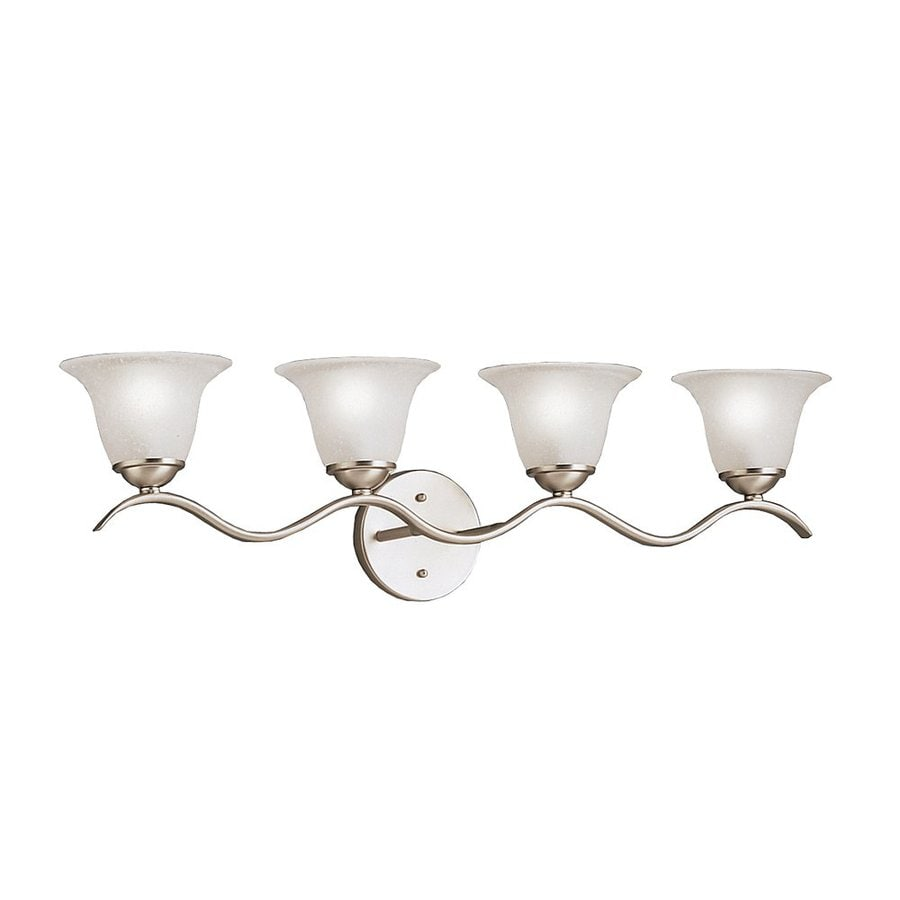 Kichler Lighting Dover 4-Light Brushed Nickel Bell Vanity Light