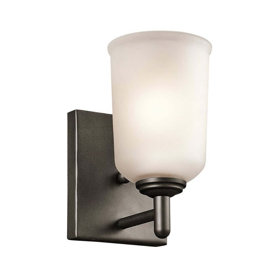 Kichler Shailene 1-Light 8.25-in Olde Bronze Cylinder Vanity Light