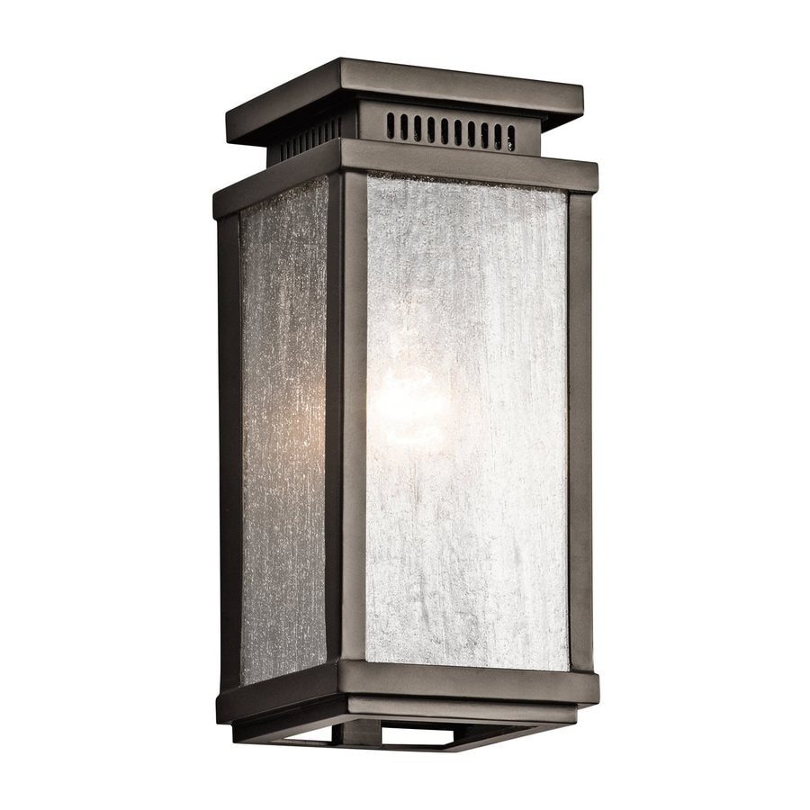 Kichler Manningham 10.75-in H Olde Bronze Outdoor Wall Light