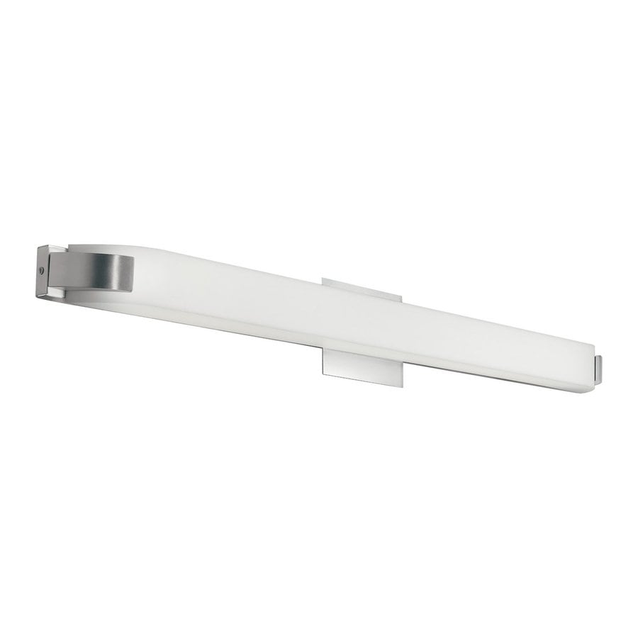 Kichler Nobu 1-Light 4.5-in Brushed Nickel Rectangle Vanity Light Bar