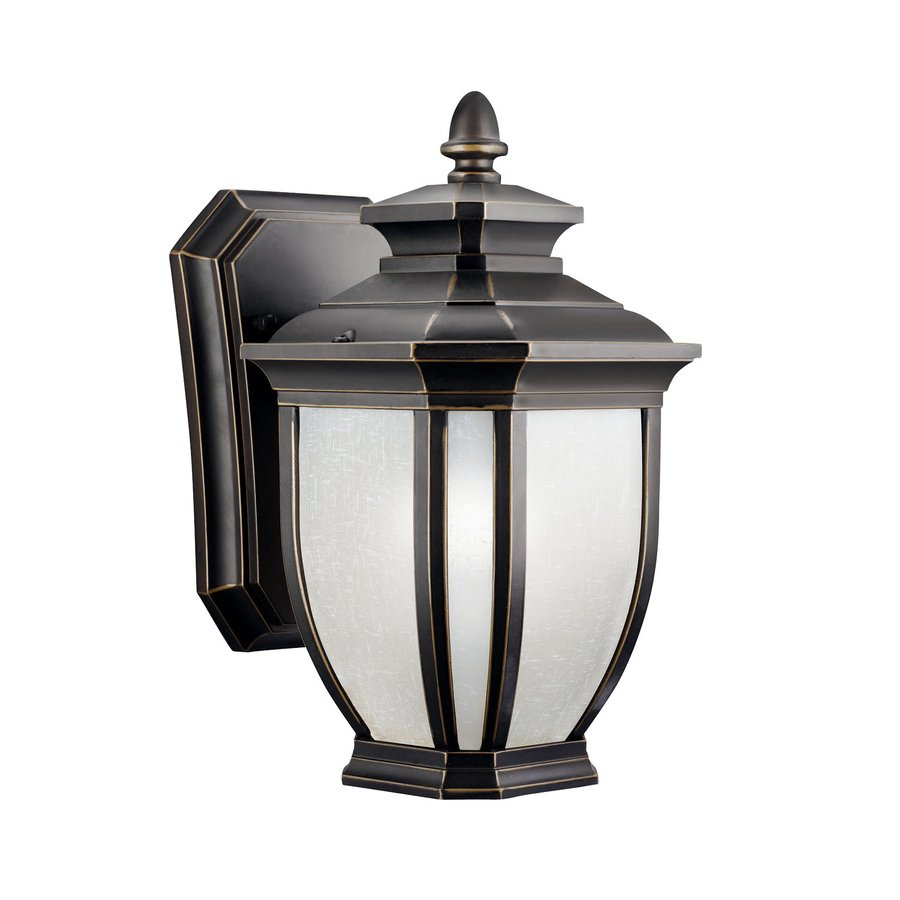 Kichler Lighting Salisbury 10.25-in H Rubbed Bronze Outdoor Wall Light