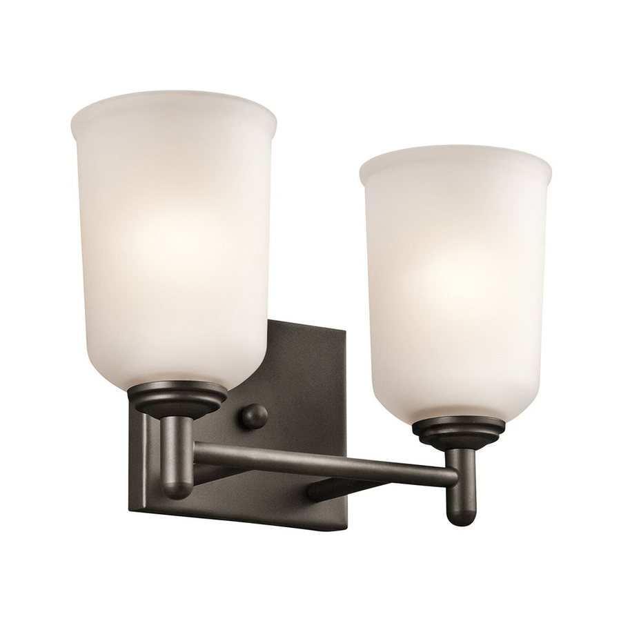 Kichler Shailene 2-Light 8.25-in Olde Bronze Cylinder Vanity Light