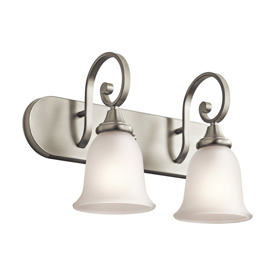 Kichler Monroe 2-Light 11.75-in Brushed Nickel Bell Vanity Light