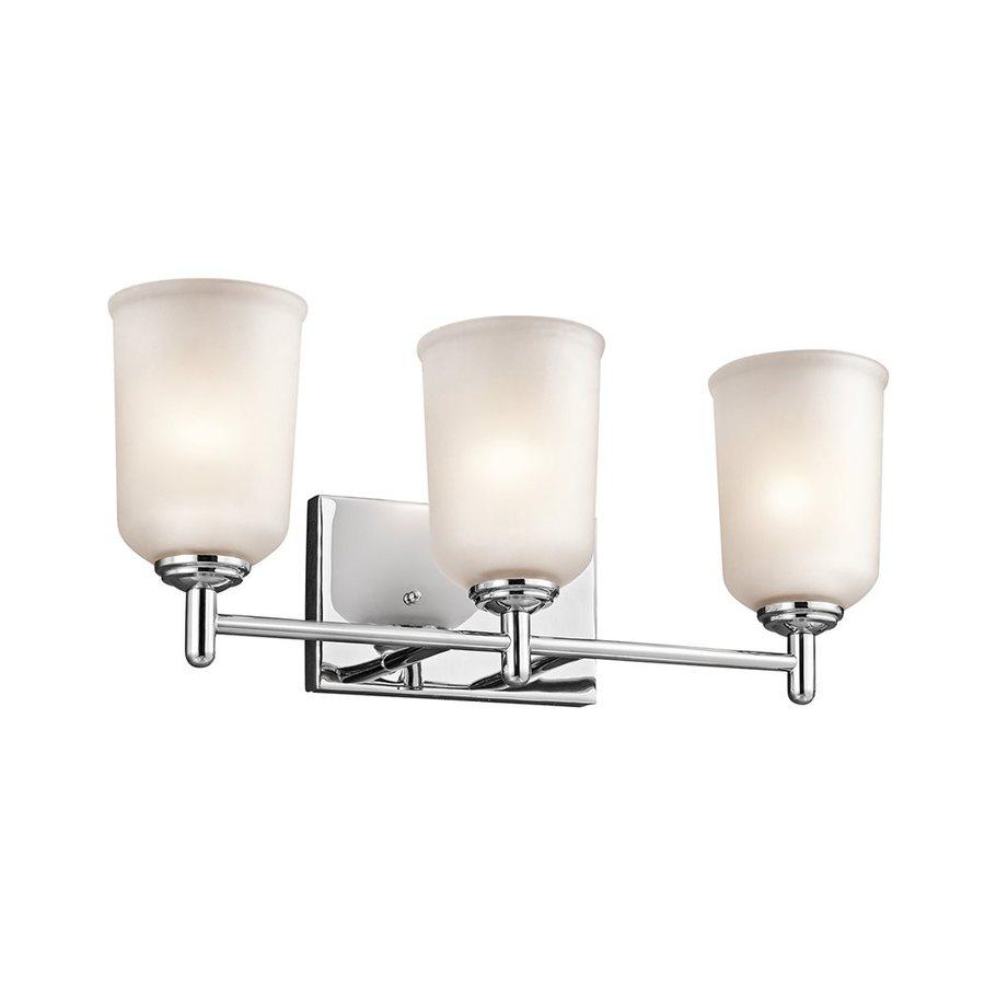 Kichler Shailene 3-Light 8.25-in Chrome Cylinder Vanity Light