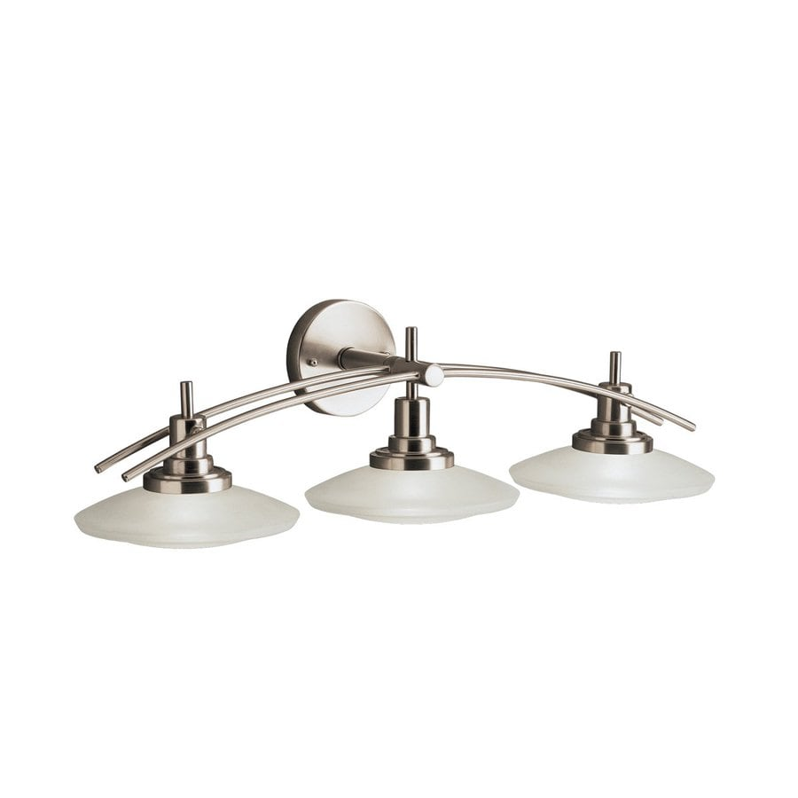 Kichler structures 3 light 30 in brushed nickel geometric - 8 light bathroom fixture brushed nickel ...