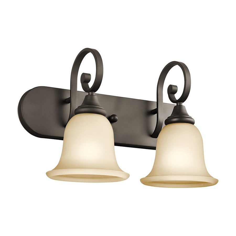 Kichler Lighting Monroe 2-Light Olde Bronze Bell Vanity Light