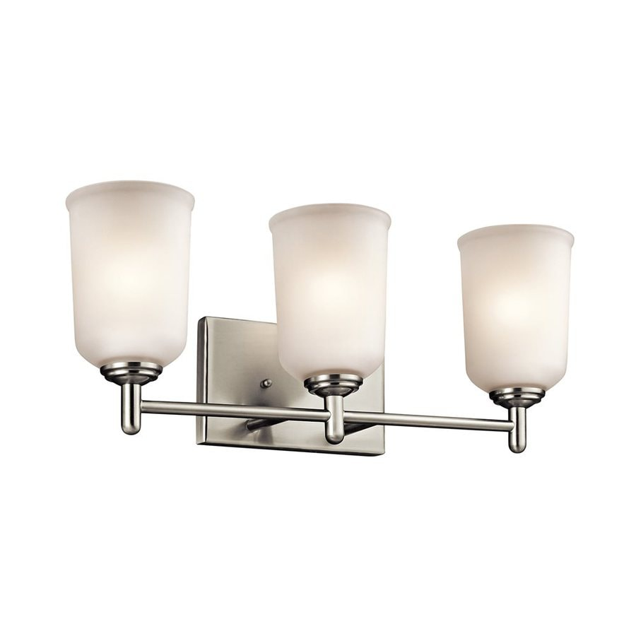 Kichler Lighting Shailene 3-Light 8.25-in Brushed Nickel Cylinder Vanity Light