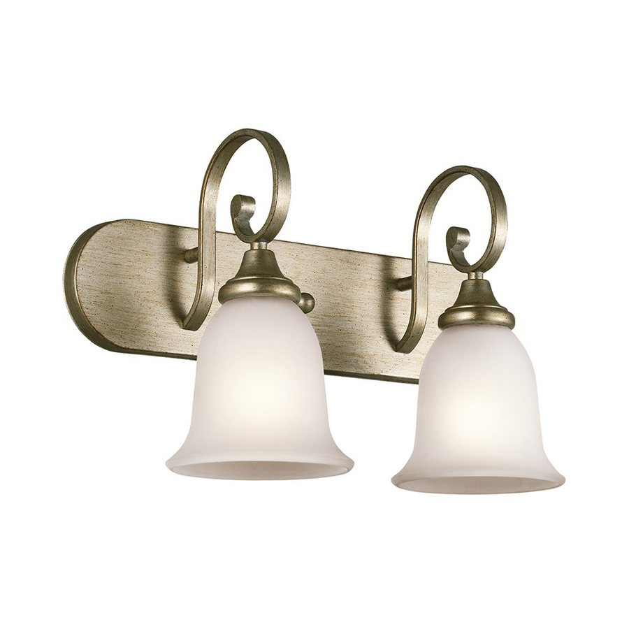 Kichler Lighting Monroe 2-Light 11.75-in Sterling Gold Bell Vanity Light