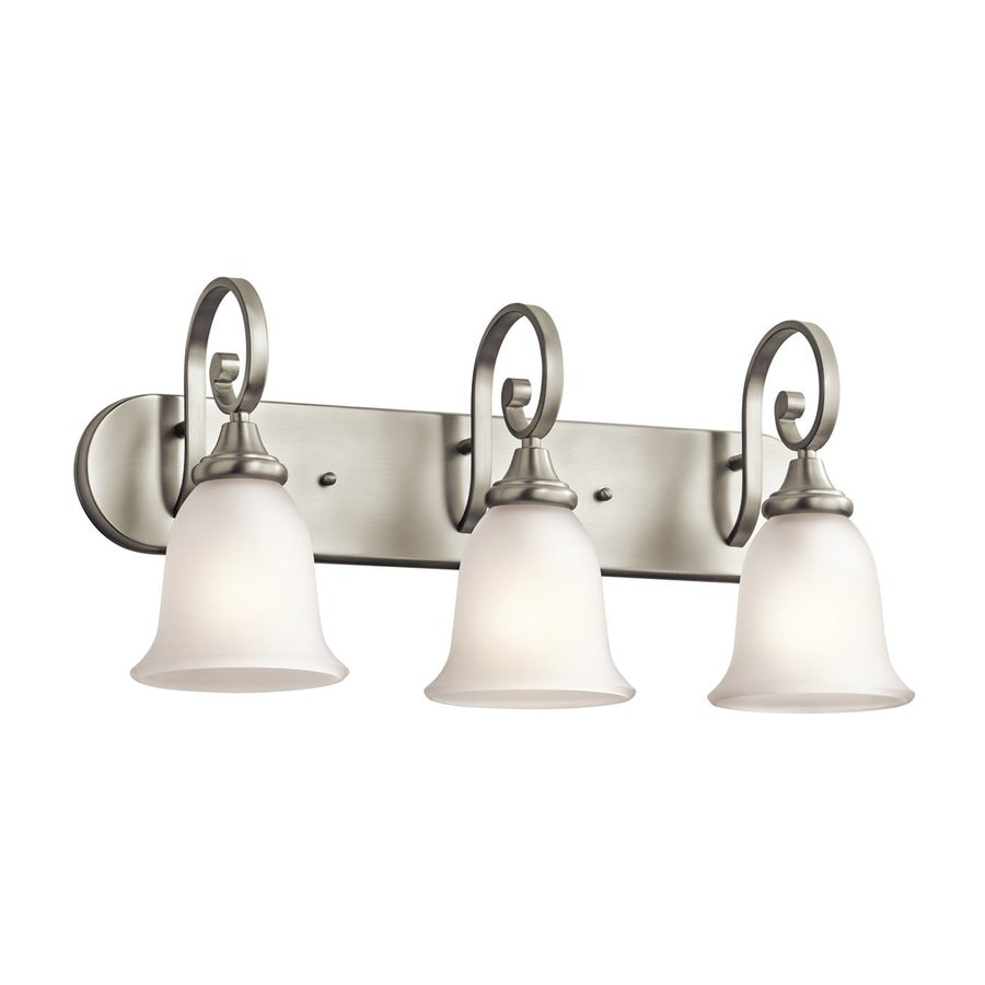 Shop Kichler Monroe 3 Light 11 5 In Brushed Nickel Bell Vanity Light At