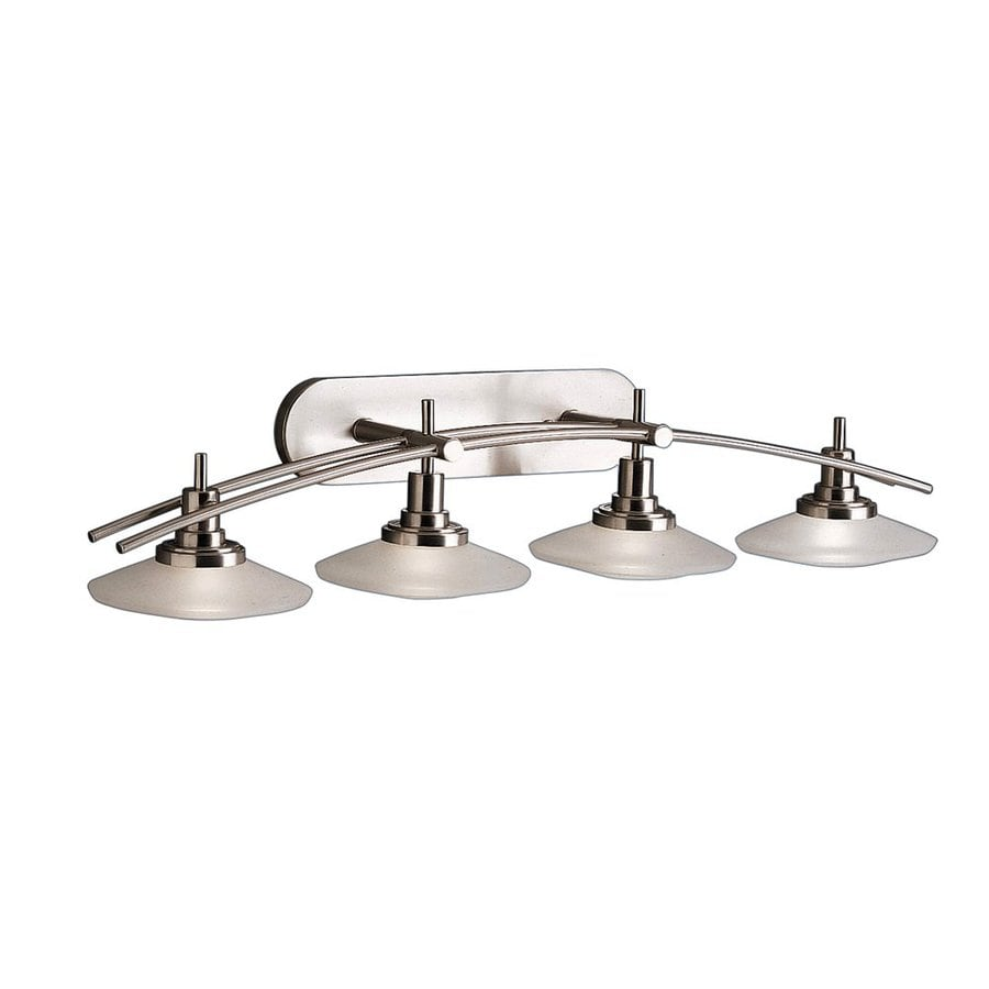 Kichler Structures 4-Light 8.5-in Brushed nickel Geometric Vanity Light