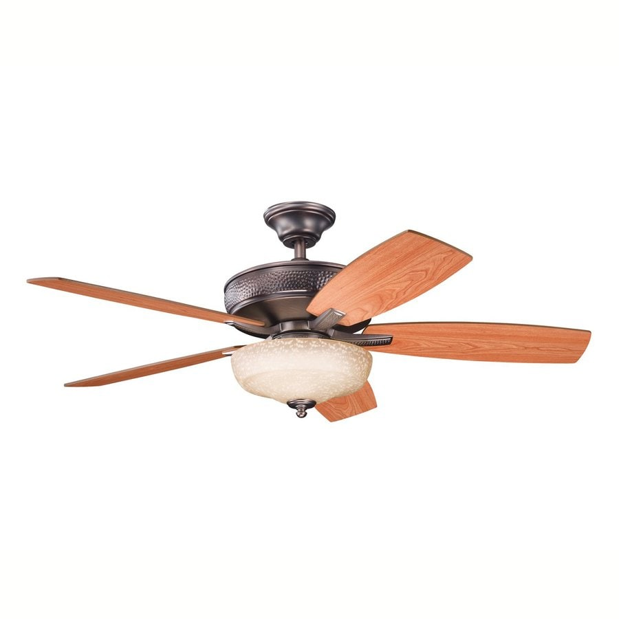 Kichler Monarch Ii Select 52-in Oil Brushed Bronze Downrod or Close Mount Indoor Residential Ceiling Fan with Light Kit and Remote (5-Blade)