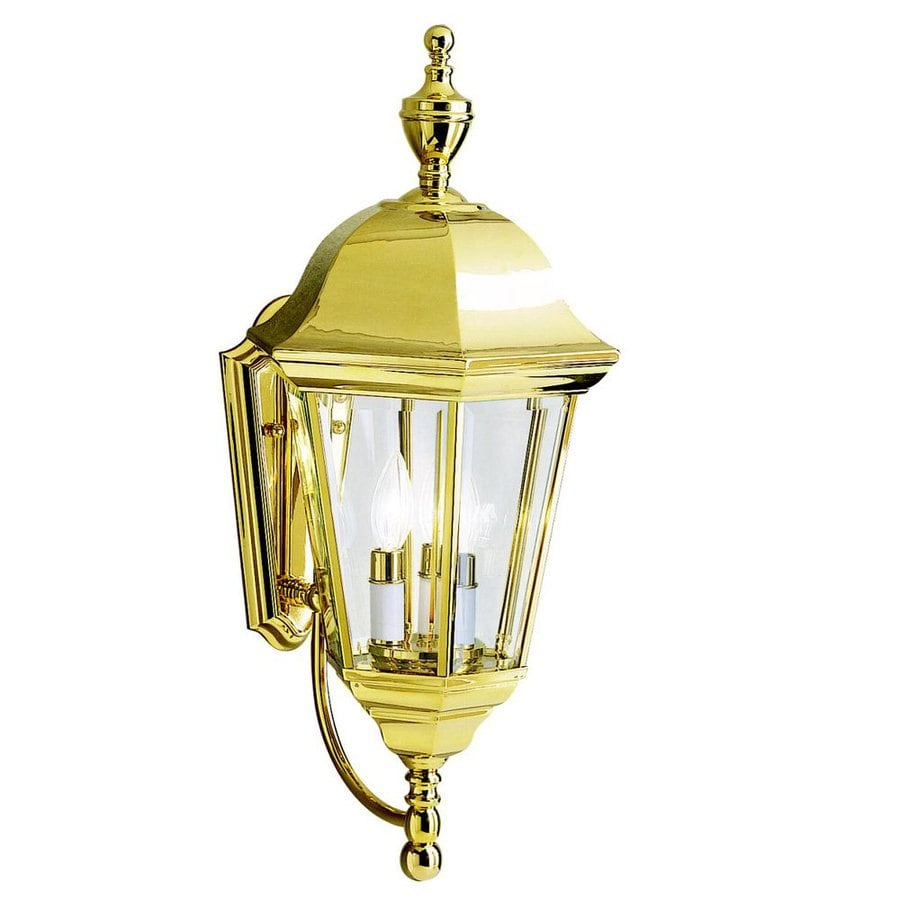 Kichler Grove Mill 23.75-in H Polished Brass Outdoor Wall Light