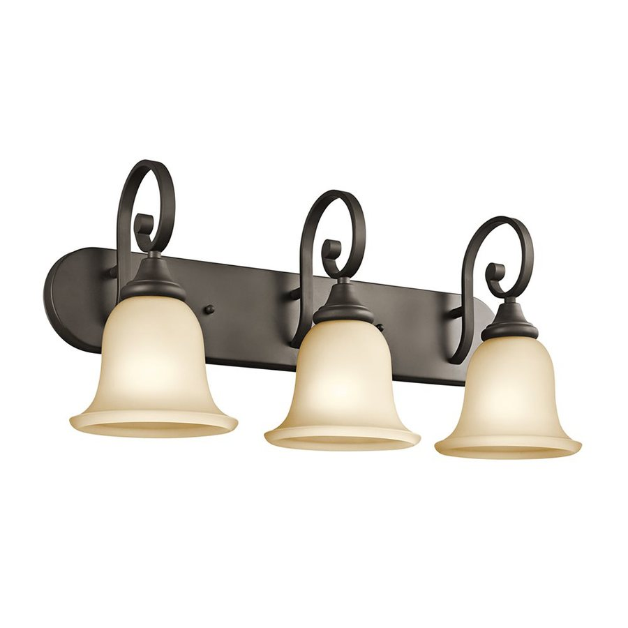 Kichler Monroe 3-Light 11.5-in Olde bronze Bell Vanity Light